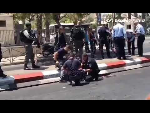 פיגוע דקירה של מחבלת ערביה בסולטאן סולימאן סמוך לשער שכם 12.8.17 כוחות משטרה פשטו על בית המחבלת