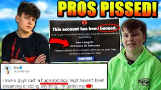Clix DONE Streaming? Pros OUTRAGED at Epic For This BAN! Benjyfishy GOES OFF in DH! KNG House Pranks
