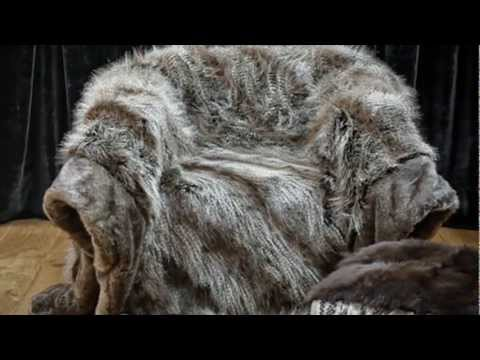 faux fur throws and Soft Furnishing from Mille Couleurs