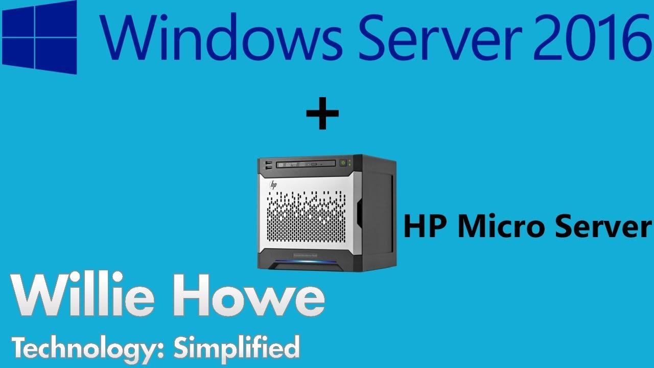 Windows Server 2016 on HP Micro Server