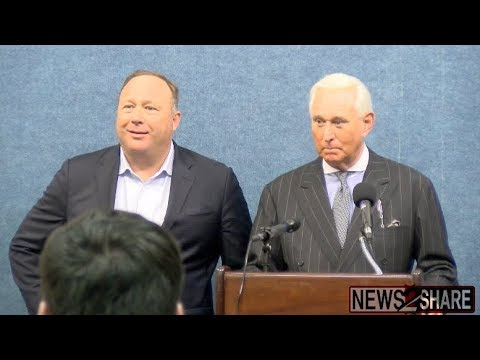 "Alex Jones / Roger Stone ""Infowars Invades The Swamp"" Full Press Conference"