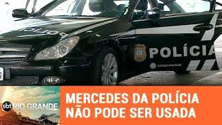 Mercedes blindada que foi transformada em viatura não está sendo usada - SBT Rio Grande - 19/03/19