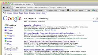 How to Search Lifehacker.com with Google