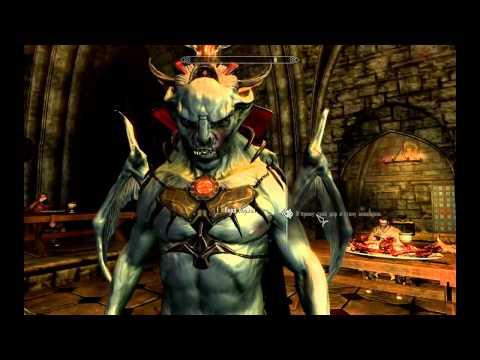 Хаотично злой персонаж из Скайрим, прикол Skyrim