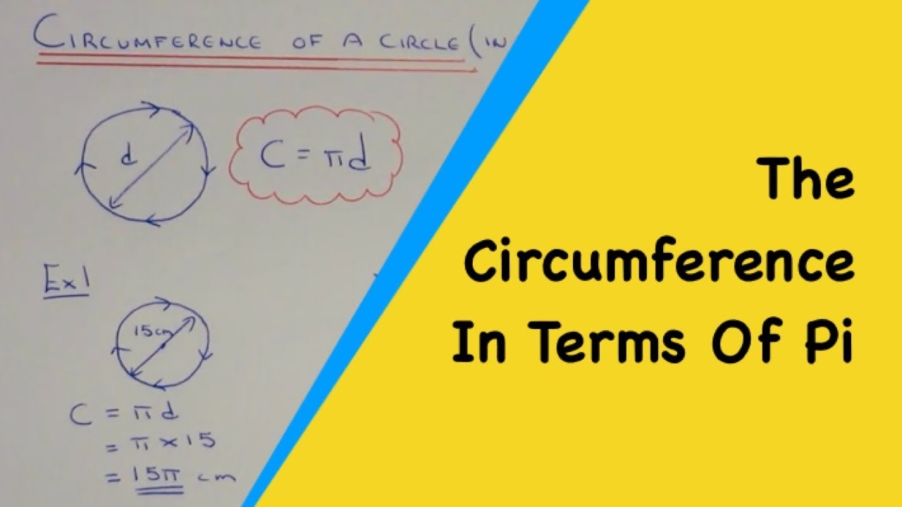 How to work out the circumference of a circle as an exact answer how to work out the circumference of a circle as an exact answer in terms of pi youtube ccuart Gallery