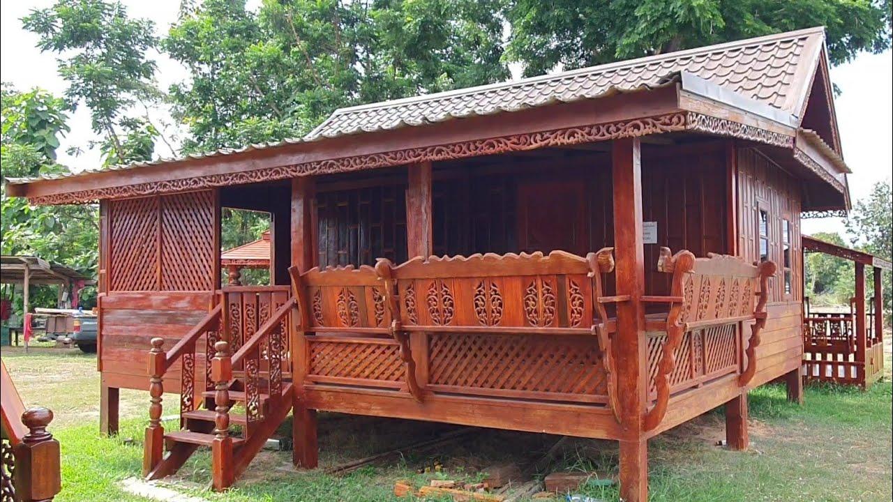 บ้านไม้น็อคดาวน์เรือนไทยประยุกต์ขนาด 5.5 × 6 เมตร ราคา 200,000 บาทฟรีจัดส่ง