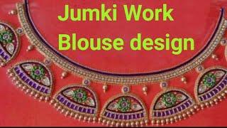 Blouse Design with Jhumkas | Aari Maggam works| #2