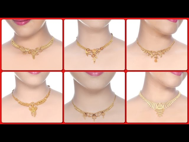 Latest Light Weight Gold Necklace Designs 2017
