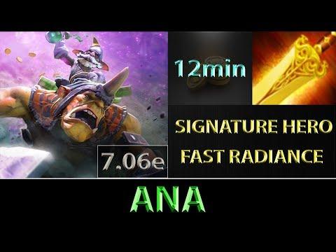ana [Alchemist] Fast Farm ► EZ Radiance Baby ► Dota 2 7.06e