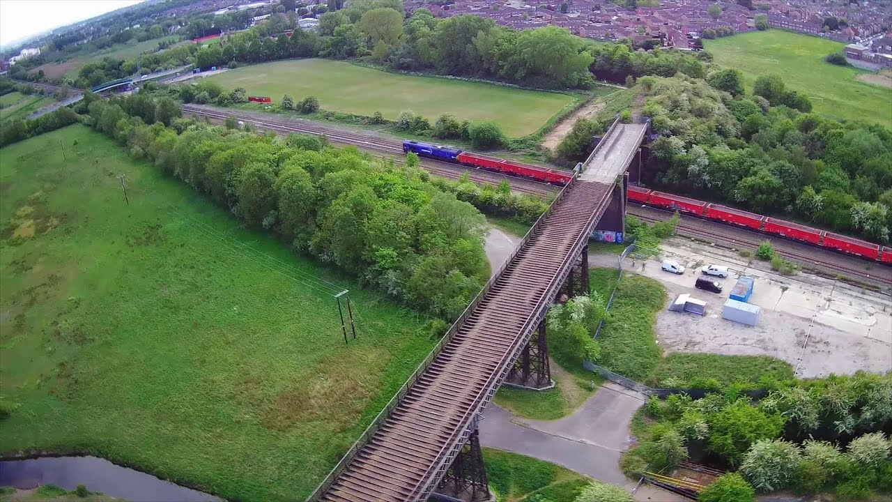Bennerley Viaduct From Above - Hubsan H501s фото