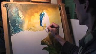 Ciruelo Cabral Paints Eragon and Saphira
