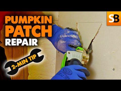 Drywall Pumpkin Patch Fix ~ 2-Minute Tip