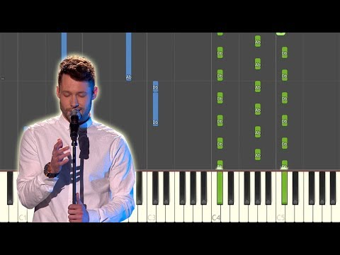 Dancing On My Own (Calum Scott Cover) Synthesia Piano Tutorial