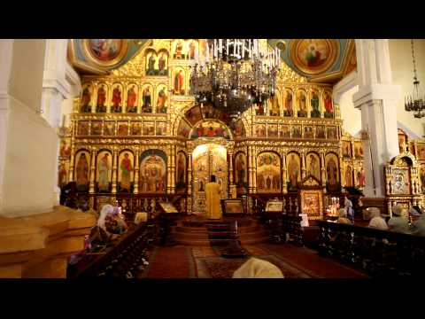 Mass in the Ascension Cathedral in Almaty, Kazachstan