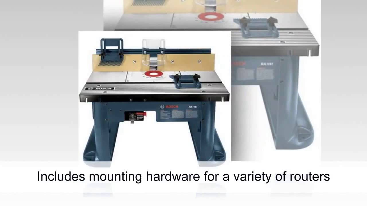 Bosch ra1181 benchtop router table youtube bosch ra1181 benchtop router table greentooth Images