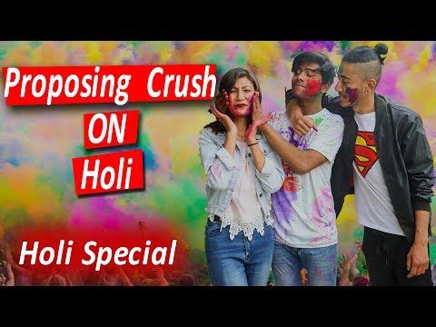 Proposing Crush On Holi Holi Special Risingstar Nepal