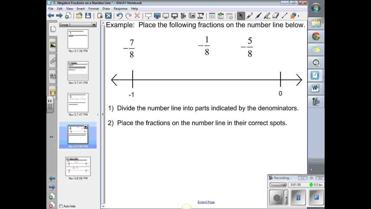 How To Graph A Negative Fraction On A Number Line