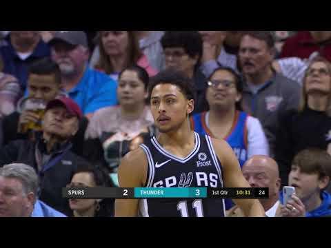 2nd Quarter, One Box Video: Oklahoma City Thunder vs. San Antonio Spurs