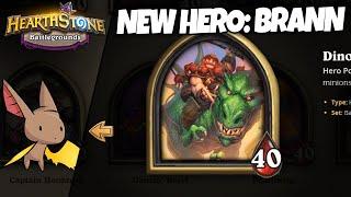 Trying out New Hero Brann w/ Zalae | Firebat Hearthstone Battlegrounds