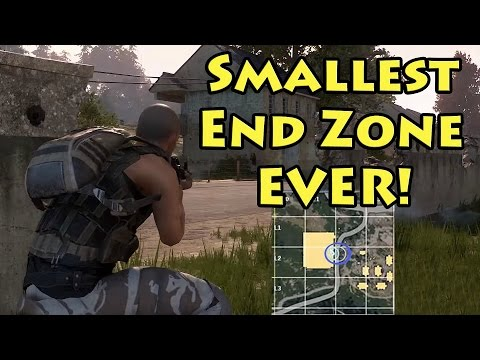 *WIN* Smallest End Zone Ever! - Playerunknown's Battlegrounds