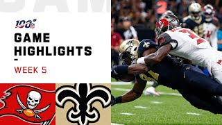 Buccaneers vs. Saints Week 5 Highlights | NFL 2019