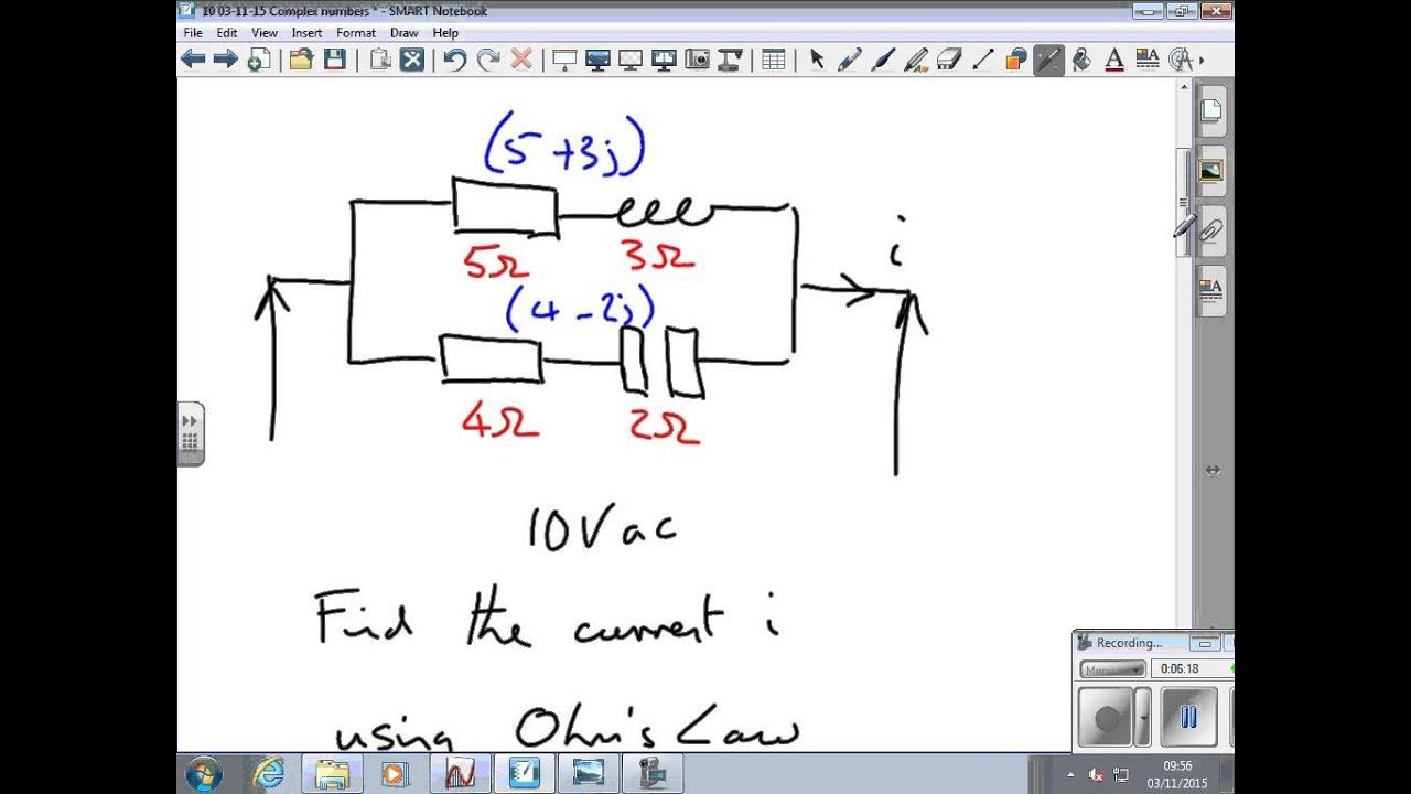Complex Numbers In Ac Circuits Youtube Series Rl Rc Rlc Apseeecom