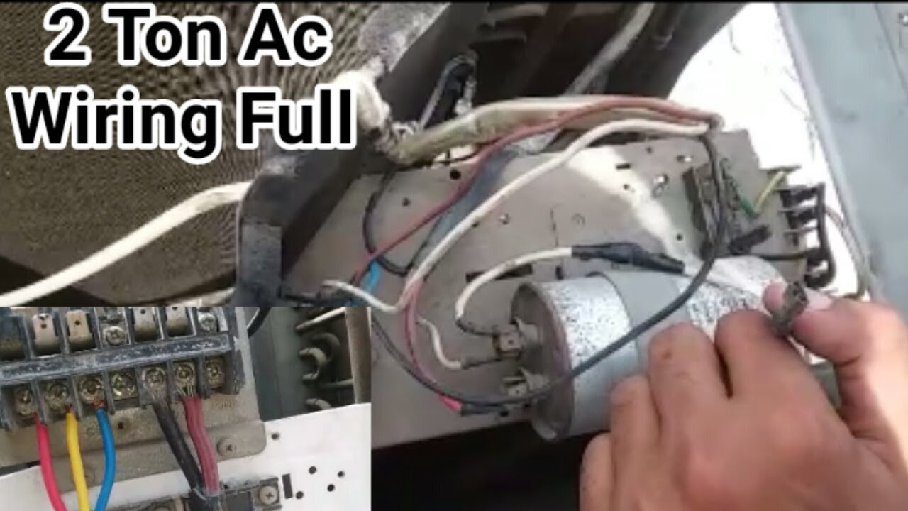 2 Ton Ac full electric wiring with capacitor |Fully4World - YouTube