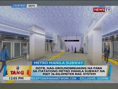 DOTr, nag-groundbreaking na para sa itatayong Metro Manila Subway na may 36-kilometer rail system