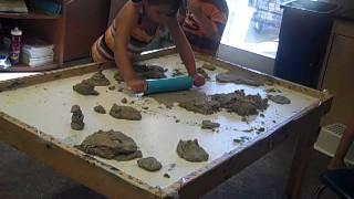 Table Top:  Sand Dough