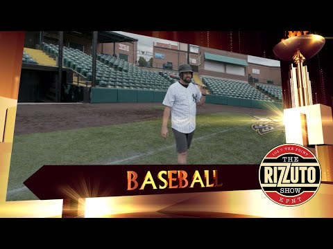 Rizz takes an AT-BAT from former MLB pitcher Brad Thompson... RIZZLYMPICS COMPLETE!