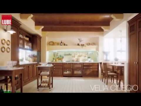 Cucina Lube classica modello VELIA CILIEGIO - YouTube