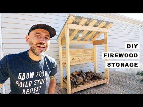 DIY (simple) Firewood Storage