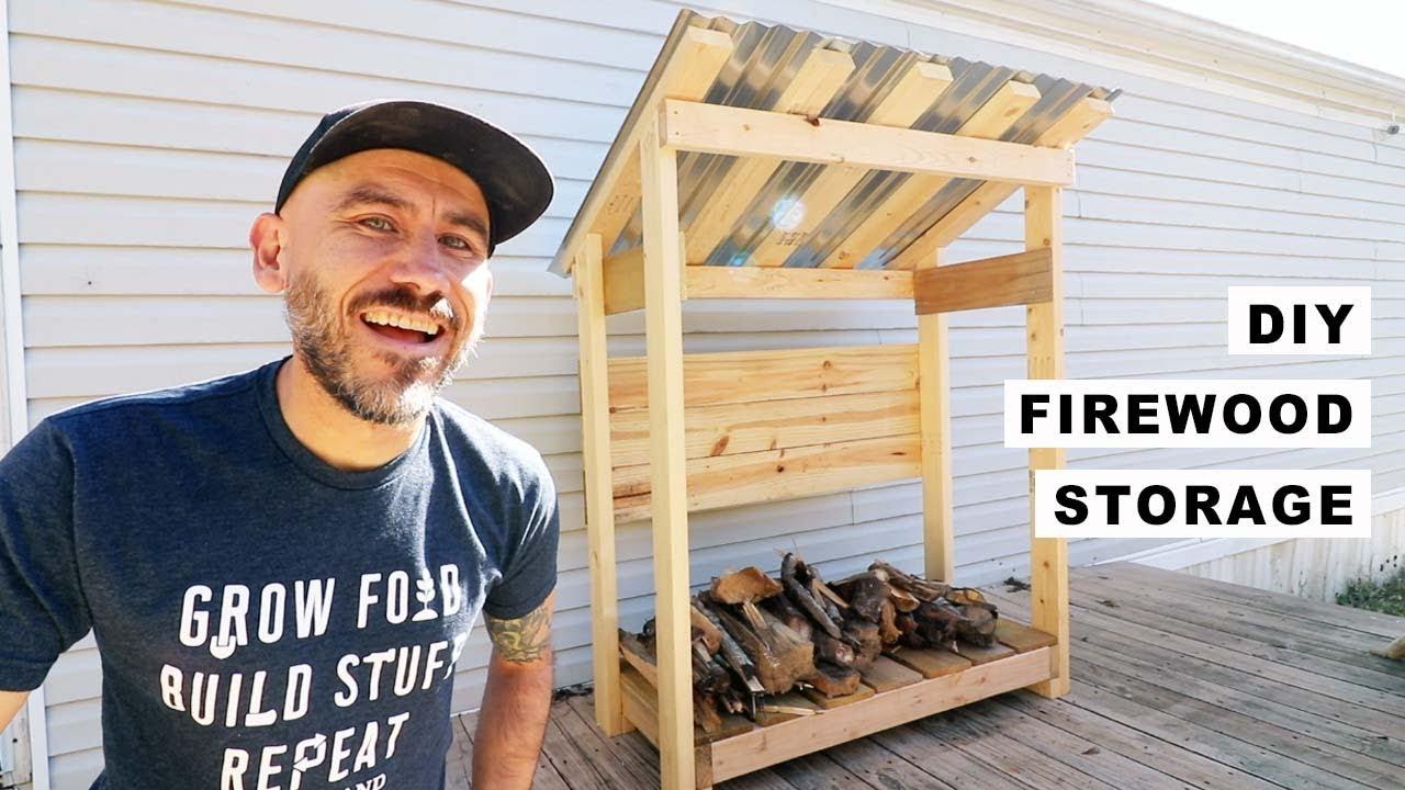 diy simple firewood storage
