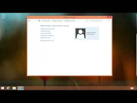 How To Delete A User Account In Windows 8