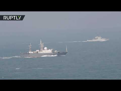 RAW: Russian vessels pass through English Channel on way home from Syria