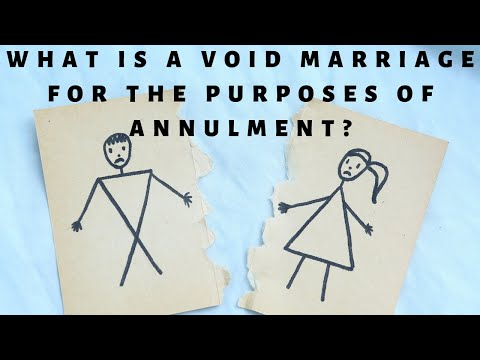 What is a void marriage for the purposes of annulment