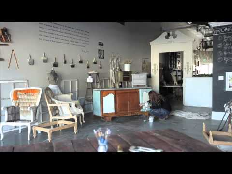 Buffet makeover using Chalk Paint® decorative paint by Annie Sloan.