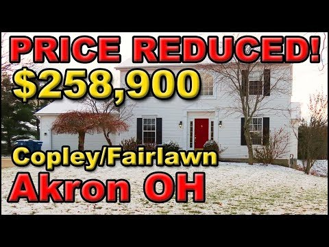 🏡 Akron Copley Fairlawn Ohio Home For Sale, PRICE REDUCED For Quick Sale! $258,900 Bring Offers!