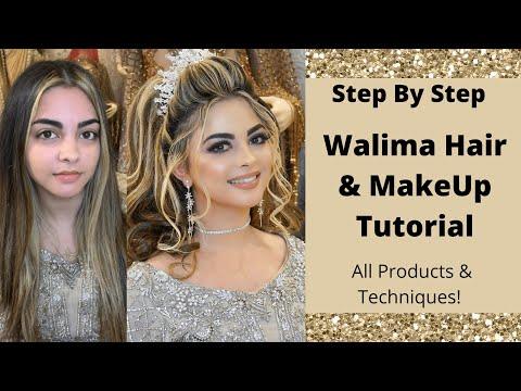 Walima Bridal/Pakistani Bridal/Step by Step Hair & Makeup Tutorial/Asian Bridal/Huda Beauty