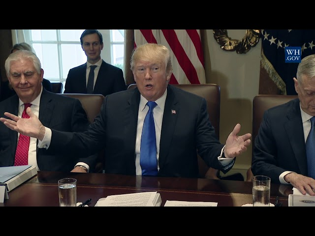 Image result for Just As Cabinet Meeting Ends, Trump Turns To Reporters & HOLY MIRACLE Occurs
