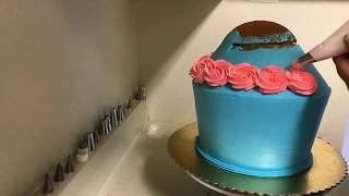 pastel de cupcake gigante - sin molde