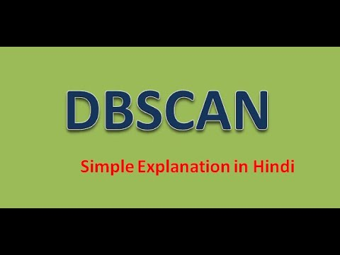 DBSCAN | Density Based Clustering Algorithm - Simplest Explanation  In Hindi