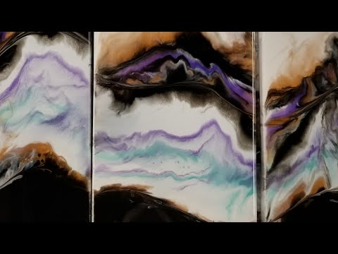 Large 3 Panel Resin Painting LIVE
