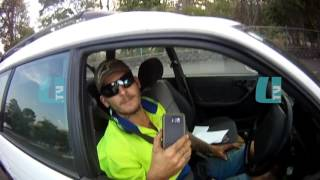 QPS Attempted RBT - Drivers Footage Merged with QPS Footage - Cooroy, Queensland, Australia