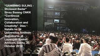 """""""GAMBANG SULING- SHOLAWAT BADAR"""" Sinau Bareng CNKK HUT Amikom ke 24 Sabtu 20 Oktober 2018"""