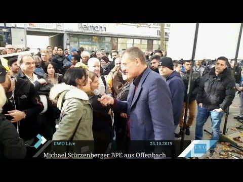 Diskussionen mit Moslems Juden und Linken über totalitäre Ideologien in Offenbach