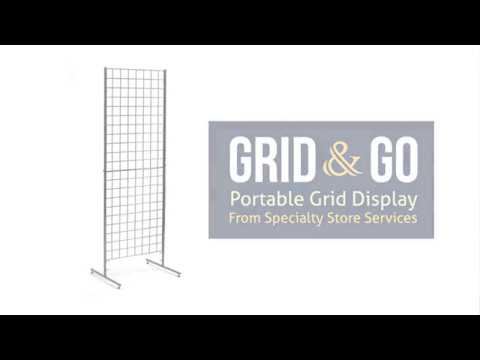 Grid & Go Patented Folding Grid Display by Specialty Store Services