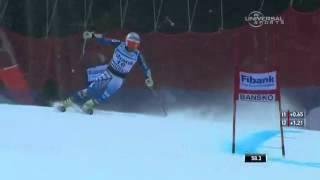 Bode Miller Finishes with a Crash in GS Инструктор в Mayrhofen Ischgl