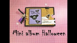 Mini album Halloween súper fácil con pocos materiales