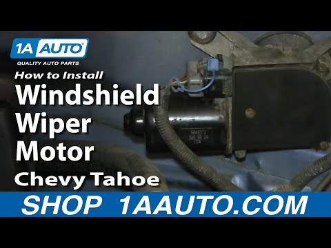 How To Install Replace Windshield Wiper Motor 1995-99 Chevy Tahoe GMC Yukon
